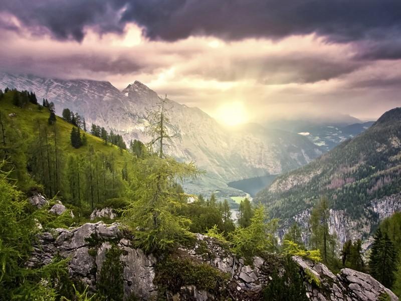 Wiederkehr des Lichts - Sonnenaufgang Berchtesgaden